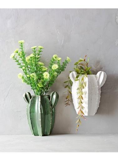 Warm Design Kaktüs Duvar Saksılığı Yeşil